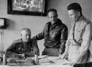 Генерал С. Г. Король, подполковник М. Ф. Куреш, нач. шт. Вельмякин (июнь 1943 г., 9-й ВИАК)